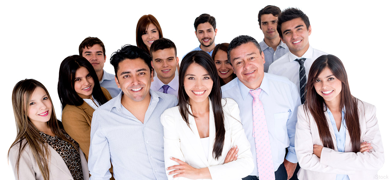 group of professional Latinx employees
