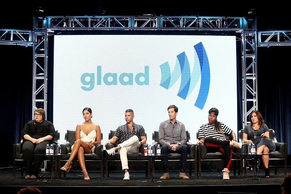 Panel speaking at GLAAD