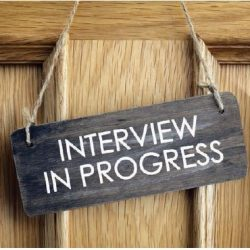 interview sign