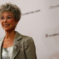 Actress Rita Moreno poses for camera at a Hollywood event