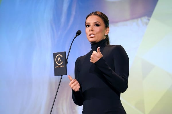 Eva Longoria accepts Beacon Award onstage