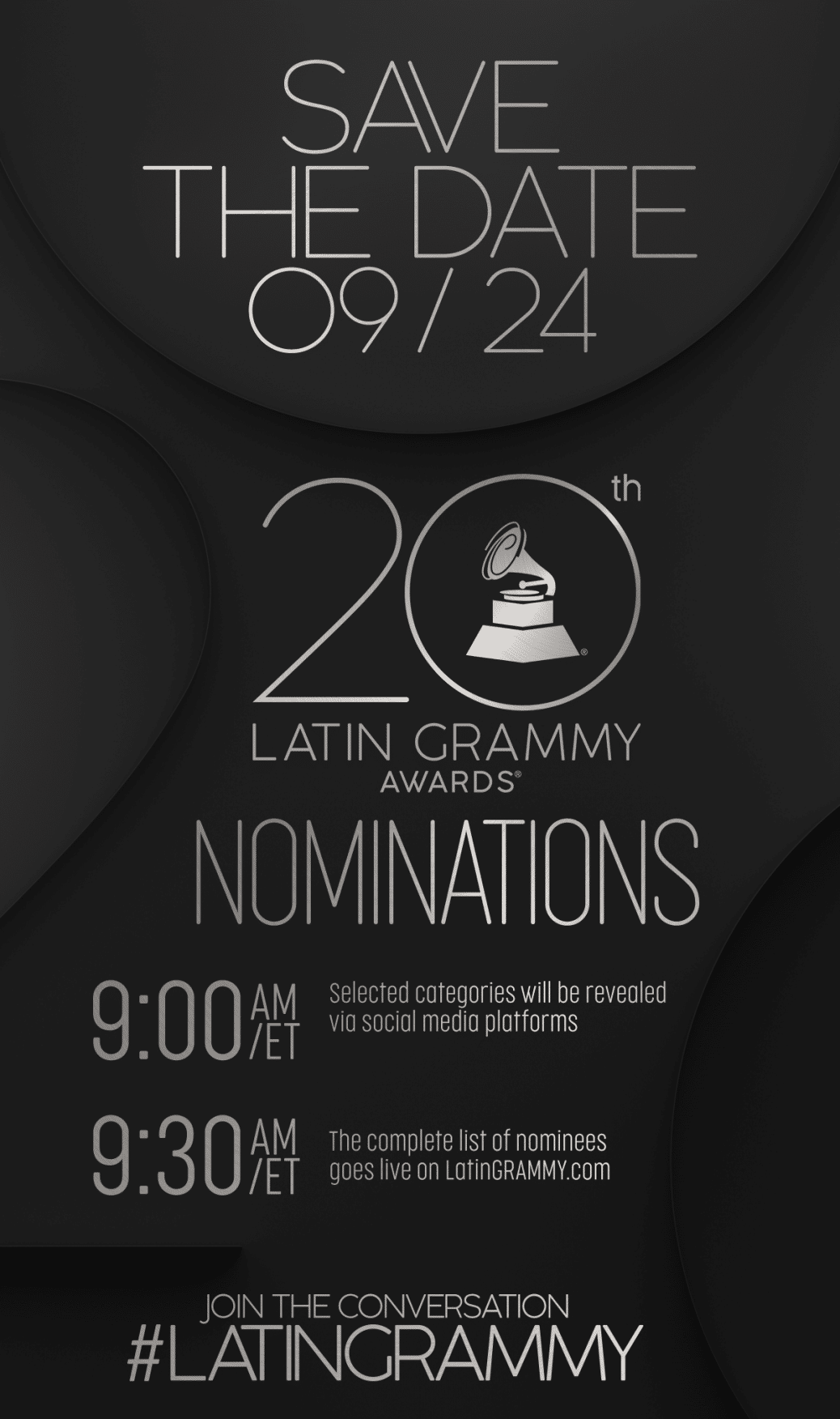 Latin Grammy Awards Nominations poster