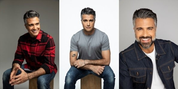 Jaime Camil trio of professional headshots