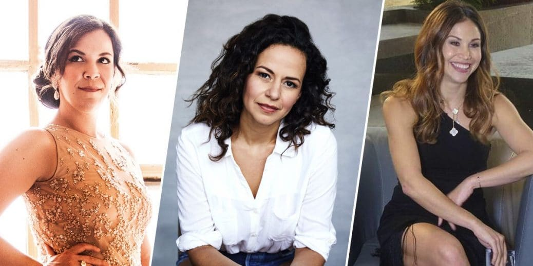 Actresses Lindsay Mendez, Mandy Gonzalez and Bianca Marroquín are pictured together