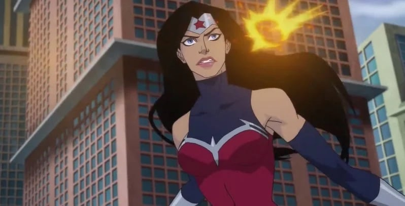 Animated image of the Latina Wonder Woman superhero