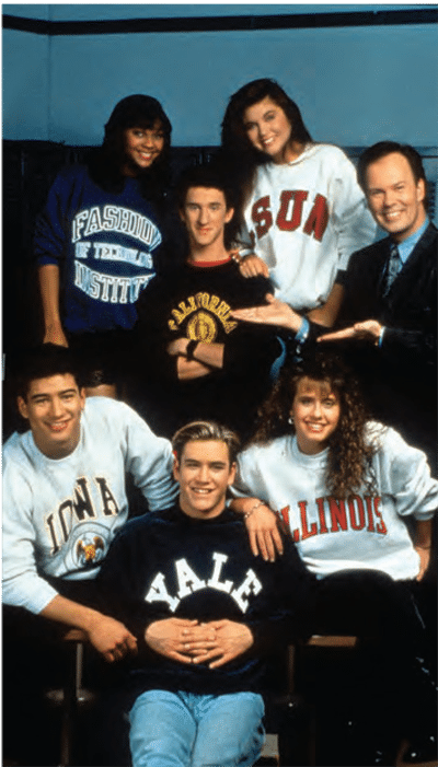 Mario Lopez and Saved By The Bell cast